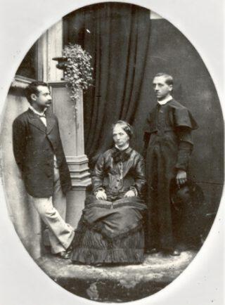 Edgardo Mortara, rechts naast zijn moeder