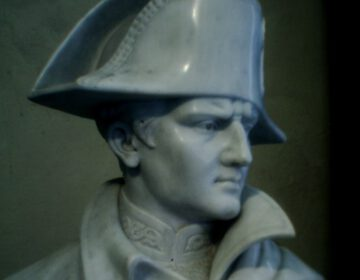 Buste van Napoleon in diens villa op Elba