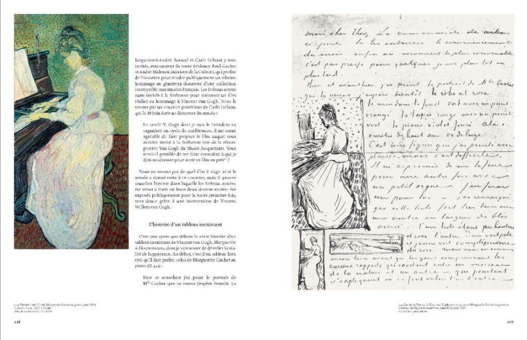 Afbeelding in het boek van Yves Vasseur over 'Marguerite Gachet au piano'