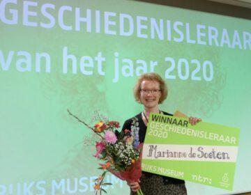 Winnaar Geschiedenisleraar 2020 Marianne de Soeten