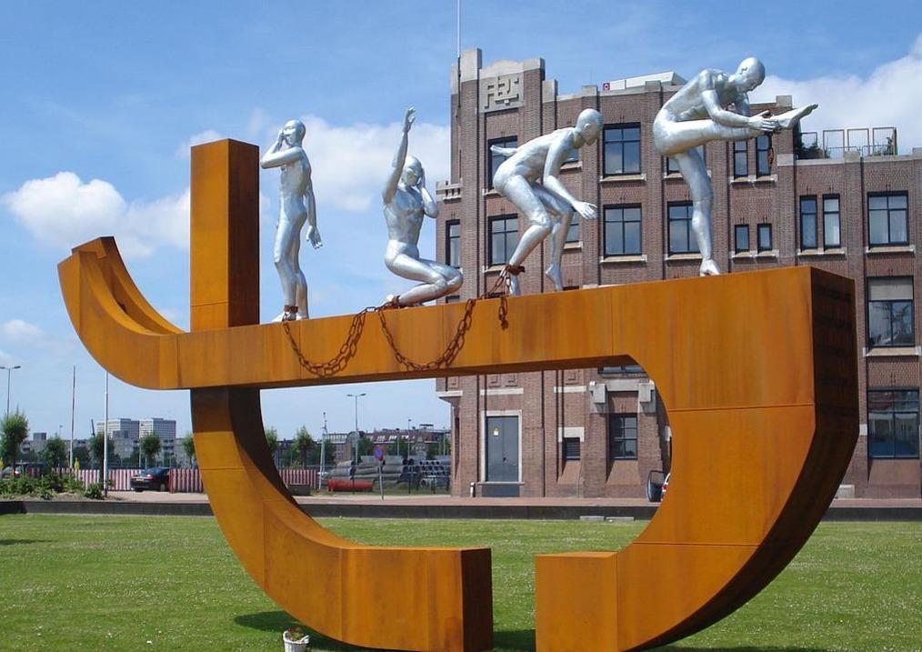 Slavernijmonument in Rotterdam