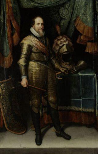 Portret van Maurits, prins van Oranje (ca.1613/20) door Michiel van Mierevelt, Rijksmuseum