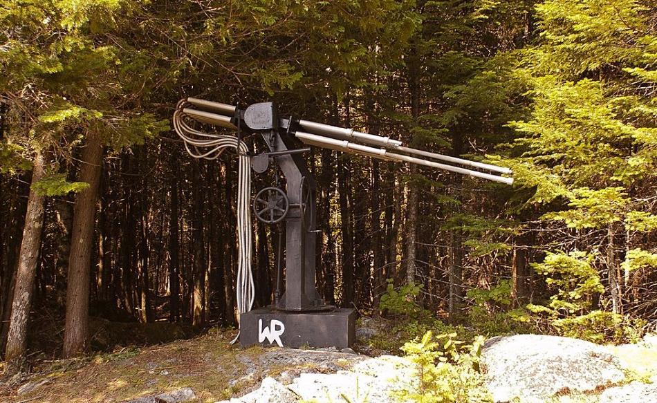 Restanten van een door Wilhelm Reich gebouwde cloudbuster in Maine