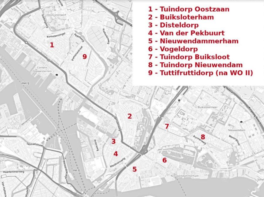 Tuindorpen in Amsterdam-Noord
