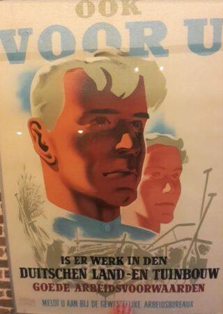 Affiche van het GAB – te zien in Fort Kijkduin te Den Helder