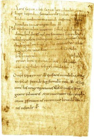 De Merseburger toverspreuken. Domstiftsarchiv und Domstiftsbibliothek Merseburg; afb. uit Vikingen.