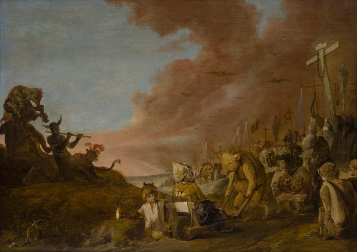 Cornelis Saftleven, Satire op de leiders van de Rooms-Katholieke Kerk, 1629
