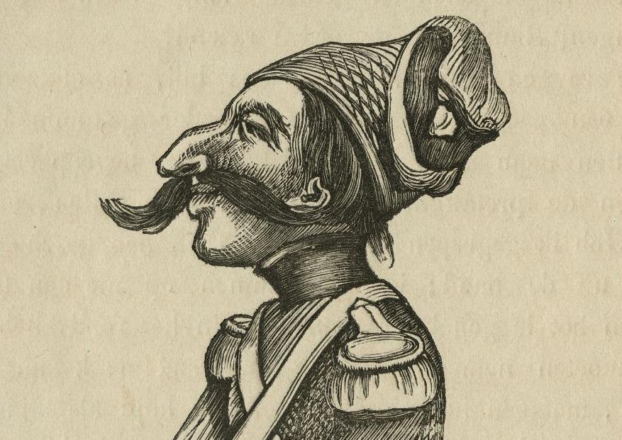 Levie Zadok, zoals in 1855 verbeeld in brief Jan Schenkman