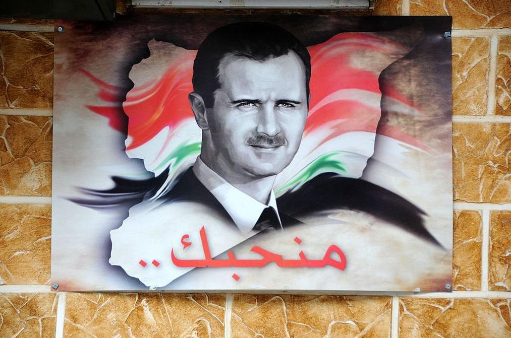 Afbeelding van Bashar al-Assad in Damascus, Syrië