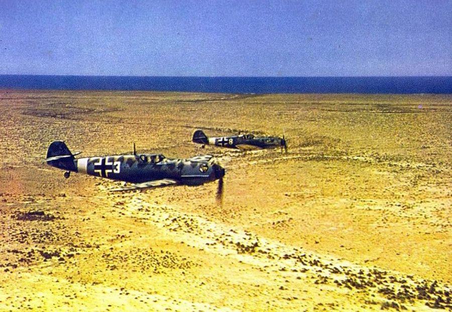 Algemene foto van een Messerschmitt 109 - ingekleurd