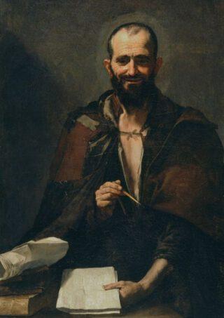 Democritus - Schilderij van José de Ribera, 1630