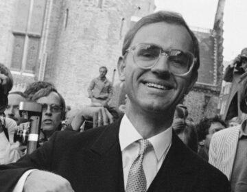 Minister Onno Ruding tijdens Prinsjesdag in 1983