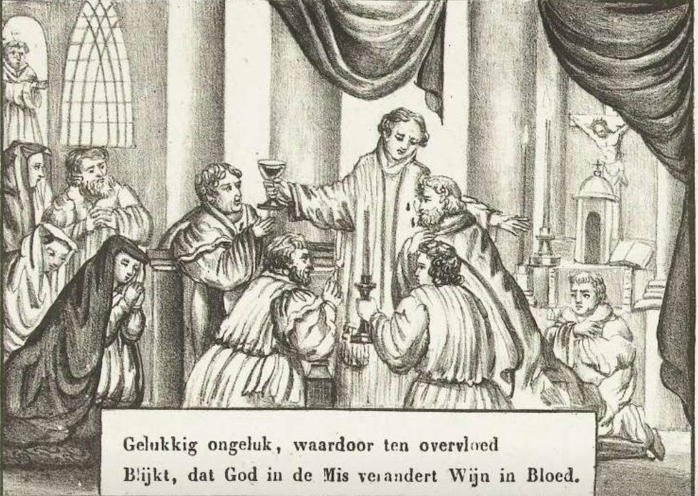 Mirakel van het Heilig Bloed te Alkmaar, 1429, anoniem, naar Johannes Petrus van Horstok, 1800 - 1899
