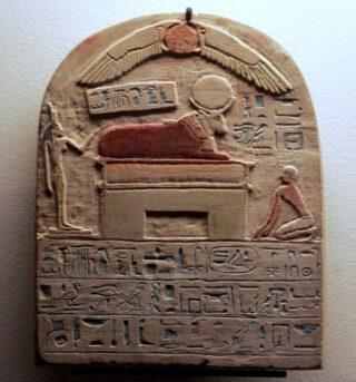 Stèle met een Apisstier
