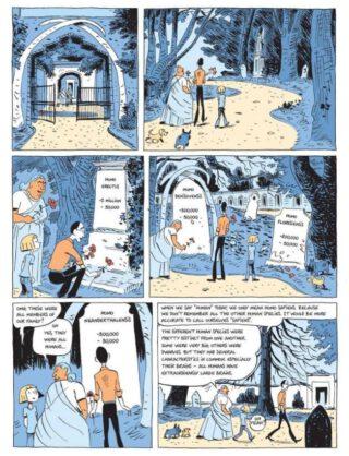 Pagina uit de Engelstalige editie van de graphic novel