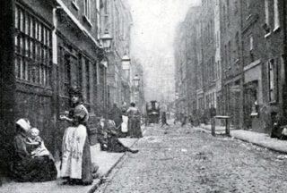 Straat in East End, 1902