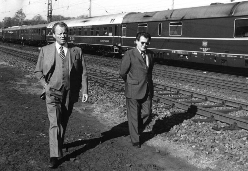 Günter Guillaume met Willy Brandt in 1974