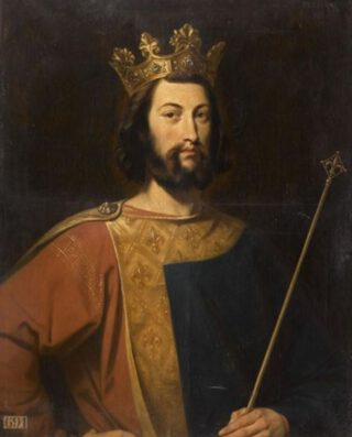 Lodewijk VII van Frankrijk - Negentiende-eeuwse verbeelding door Henri Decaisne