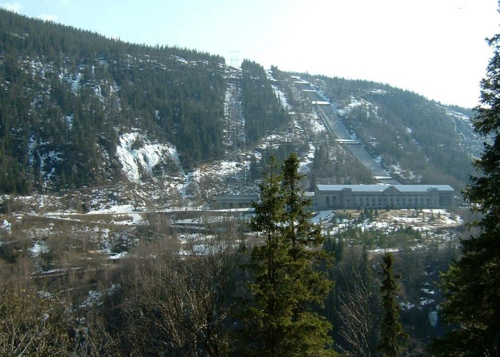 Het Vemork-complex in Noorwegen