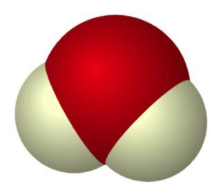 3D-weergave van een Zwaar water-molecuul
