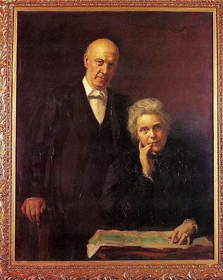 Samuel en Henrietta Barnett, geportretteerd door Hubert von Herkomer in Toynbee Hall