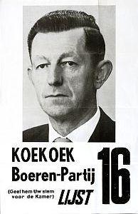 Affichte van de Boerenpartij uit 1963