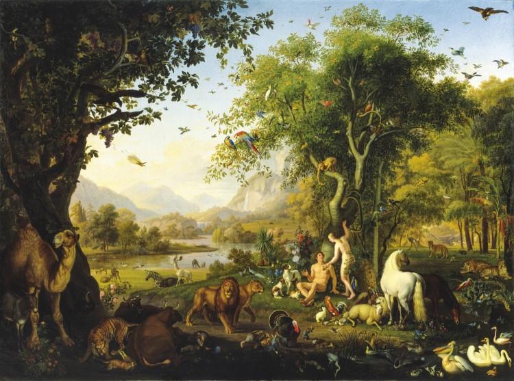 Johann Wenzel Peter, Adam en Eva in het Aards paradijs, 1820-1829, Pinacottheca Vaticana, Rome