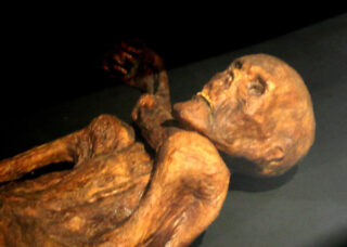 Reconstructie van Ötzi de ijsmummie