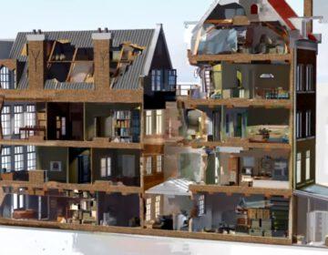 Still uit een animatie van het Achterhuis