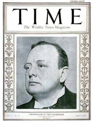 Winston Churchill op Time magazine's cover, 1925