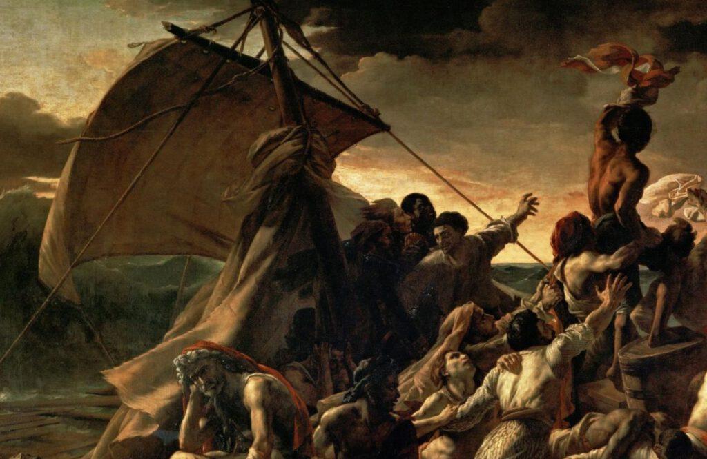 Detail van het schilderij van Théodore Géricault