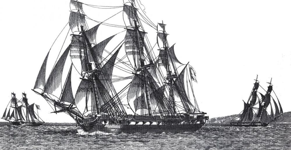 """Het fregat """"La Méduse"""""""