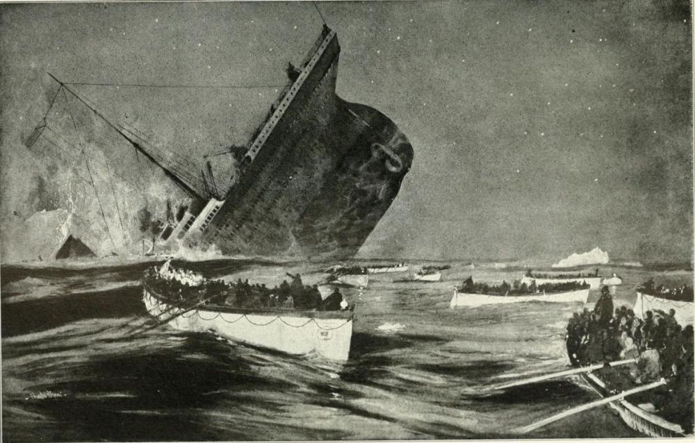 De ramp met de Titanic