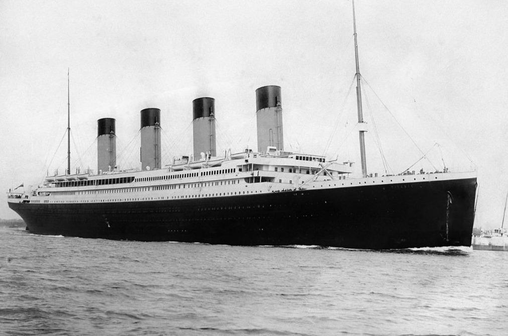 De Titanic op 10 april 1912