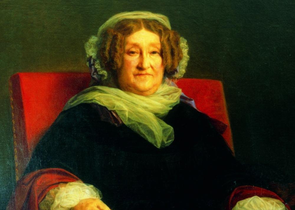 Barbe Nicole Ponsardin-Clicquot - Portret door door Léon Cogniet