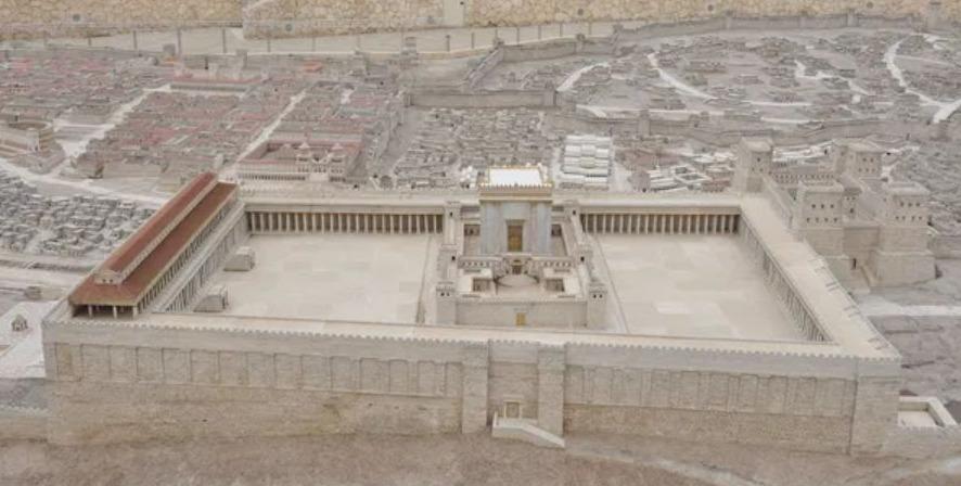 Maquette van het tempelcomplex in Jeruzalem (Israel Museum, Jeruzalem)