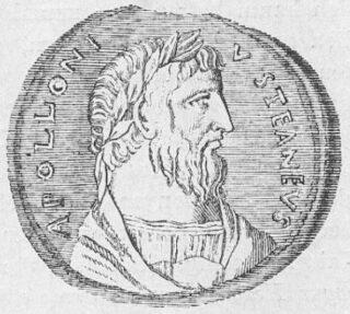Munt met afbeelding van Apollonius van Tyana, vierde of vijfde eeuw na Christus.