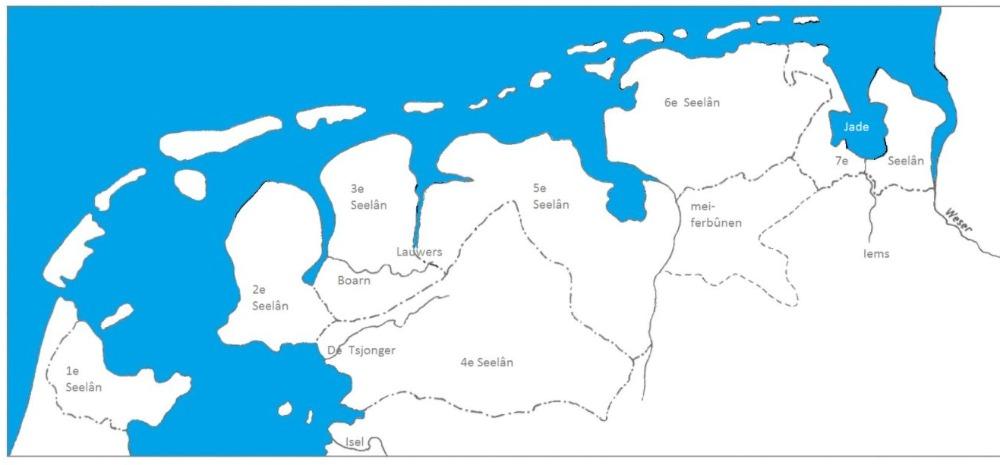 Zeven Friese Zeelanden volgens een traktaat uit 1417