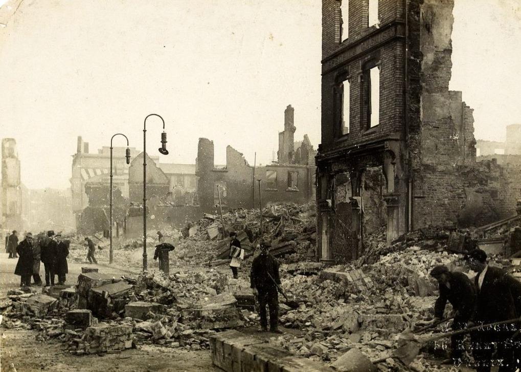 Puinruimen na de Burning of Cork, december 1920