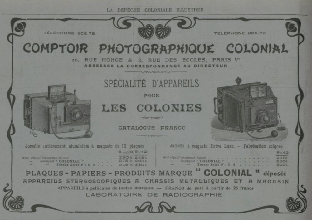 Publiciteit in La Dépêche coloniale illustrée, 15 juni 1907, p. 150