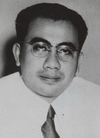 De Indonesische politicus Ide Anak Agung Gde Agung