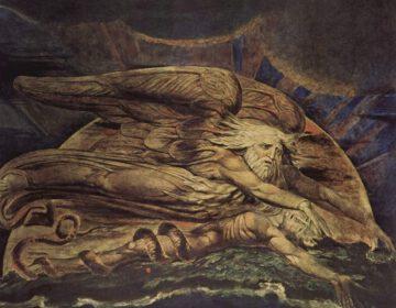 De schepping van Adam - William Blake, 1795