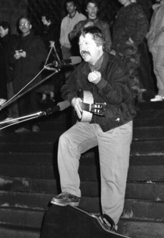 Wolf Biermann in Erfurt, 1990