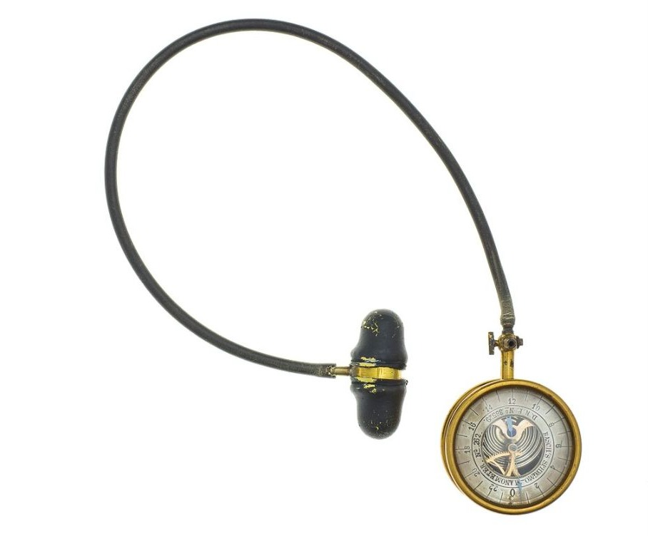 De stygmomanometer (bloeddrukmeter) van Samuel Siegfried Karl von Basch