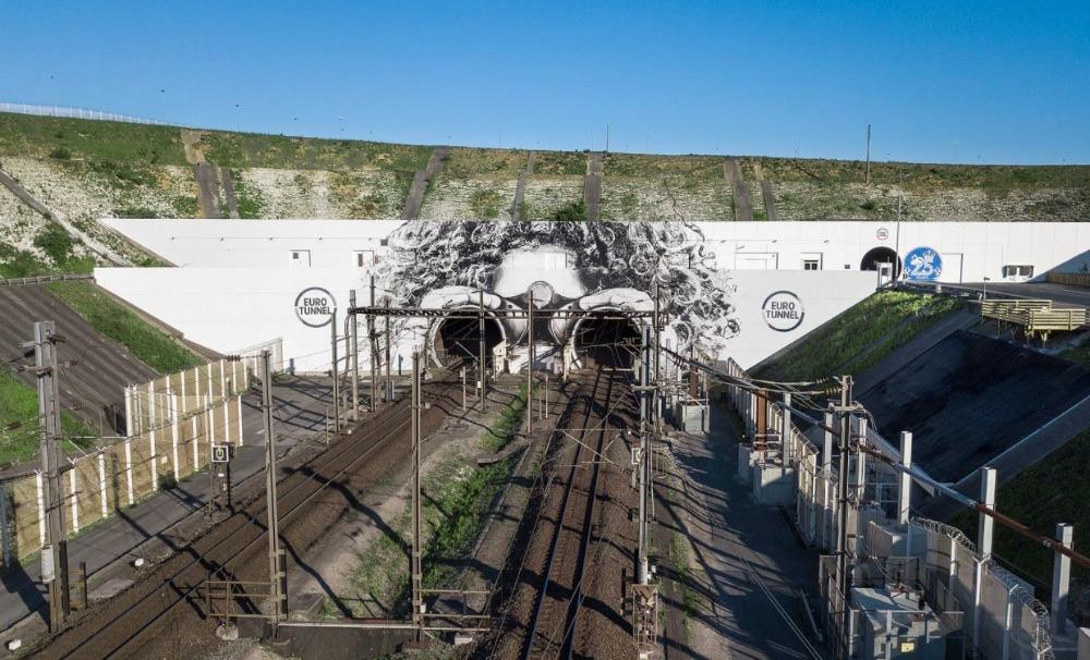 Ingang van de Kanaaltunnel