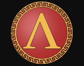 Symbool van de oude Griekse regio Sparta