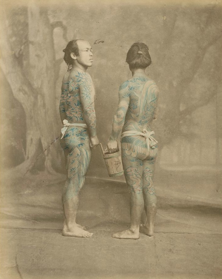 Getatoeëerde Japanners, 1870