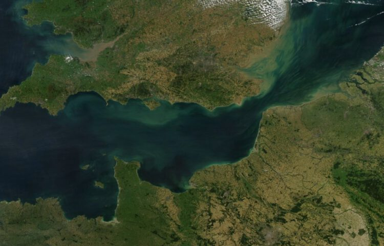 Satellietfoto van het Kanaal