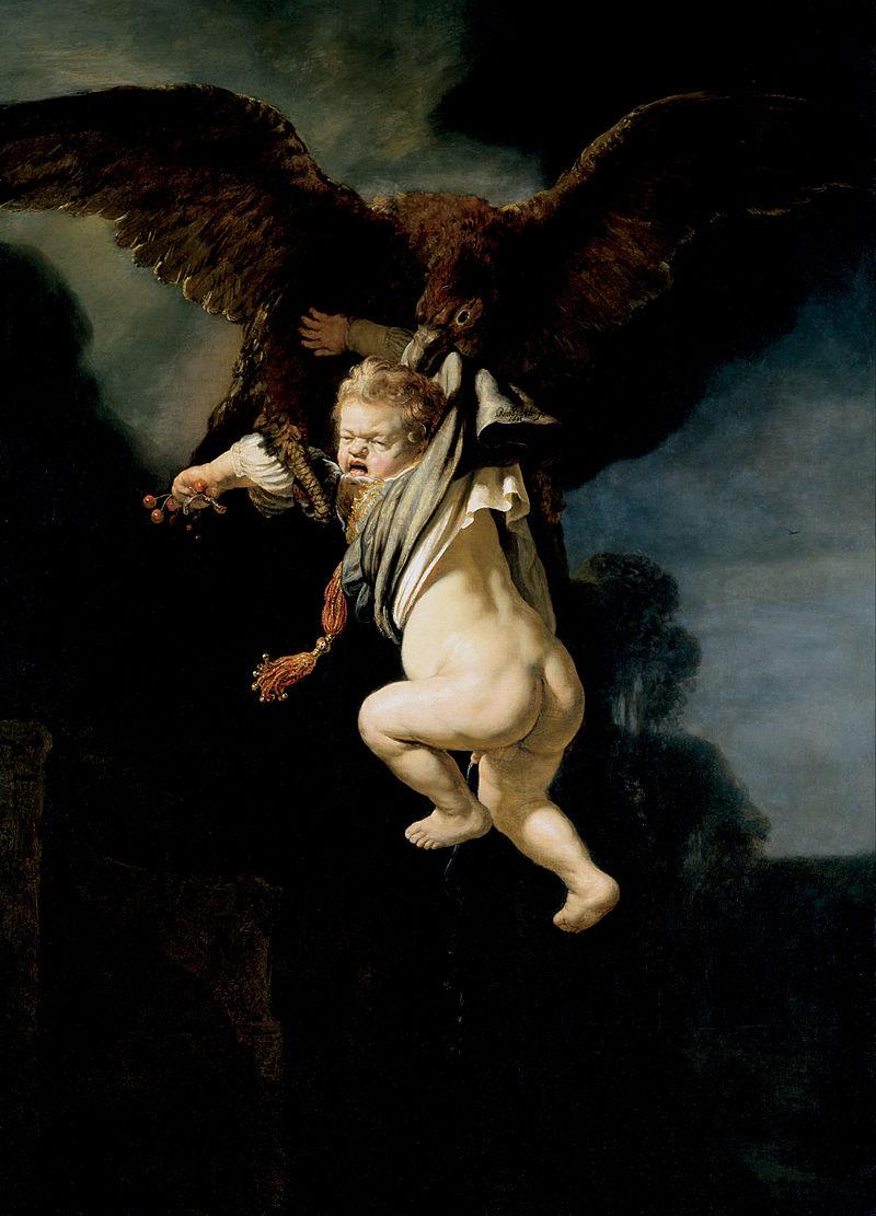 De ontvoering van Ganymedes - Rembrandt van Rijn, 1635