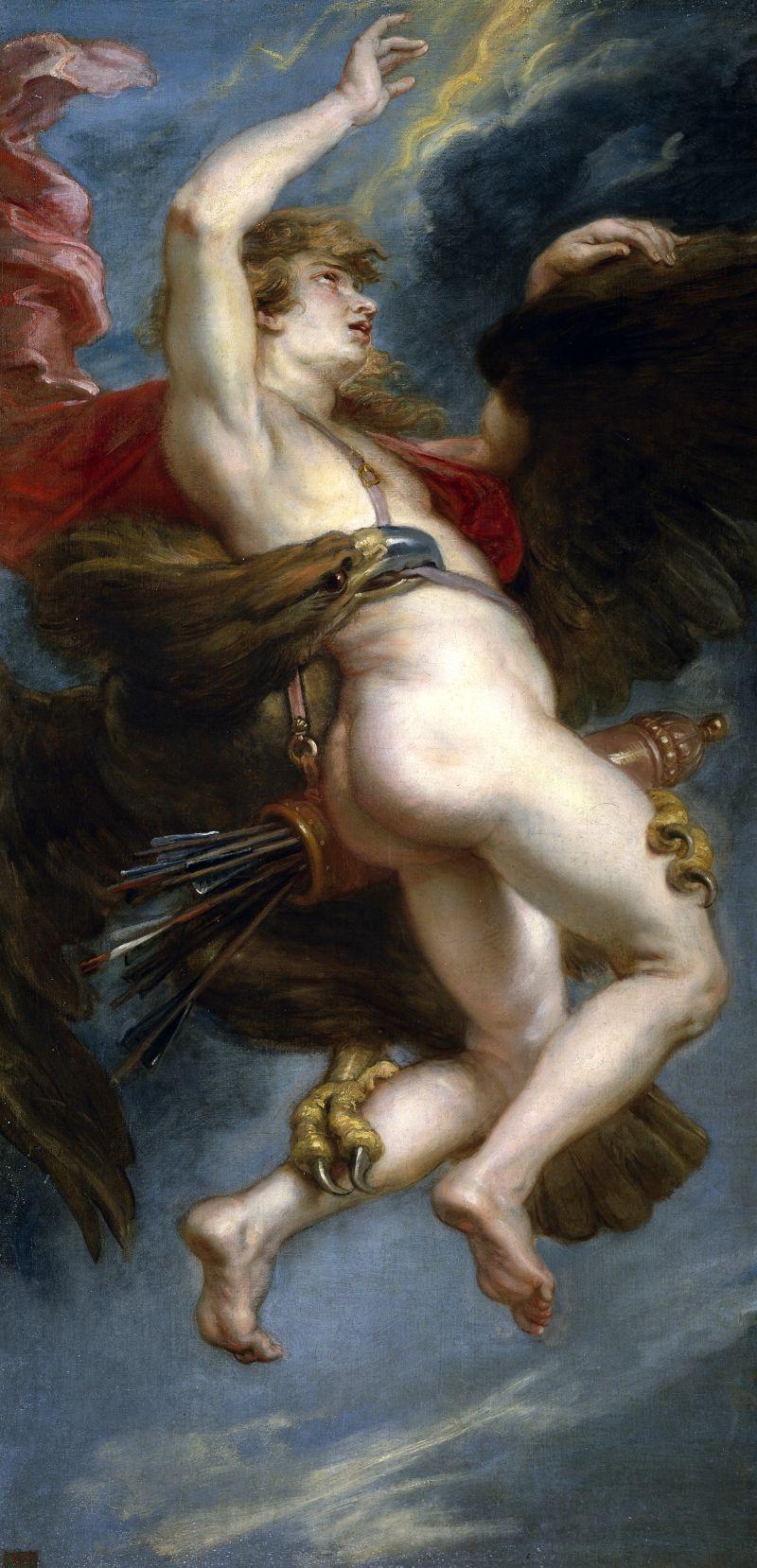 de ontvoering van Ganymedes - Peter Paul Rubens